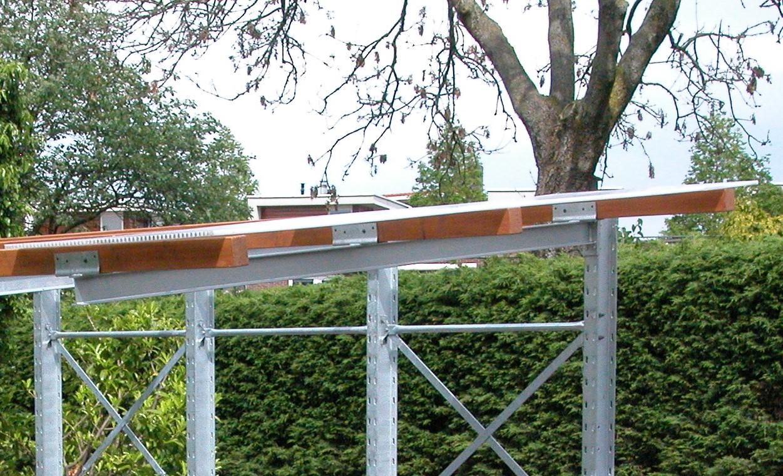 Buiten 16. Draagarmstelling met dak online op voorraad te koop