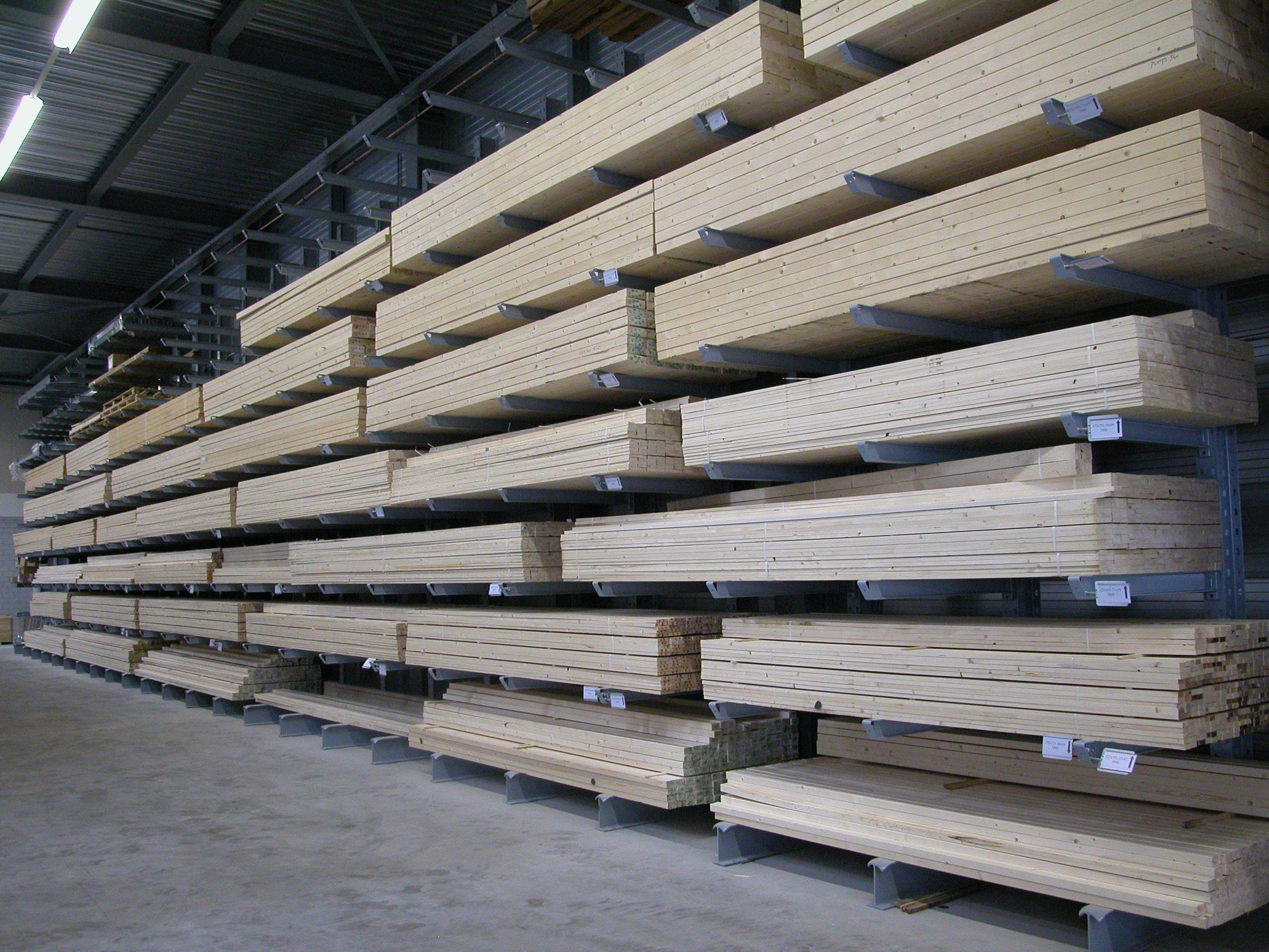 Referenties 7. Zware OHRA draagarmstelling enkelzijdig voor houtopslag.