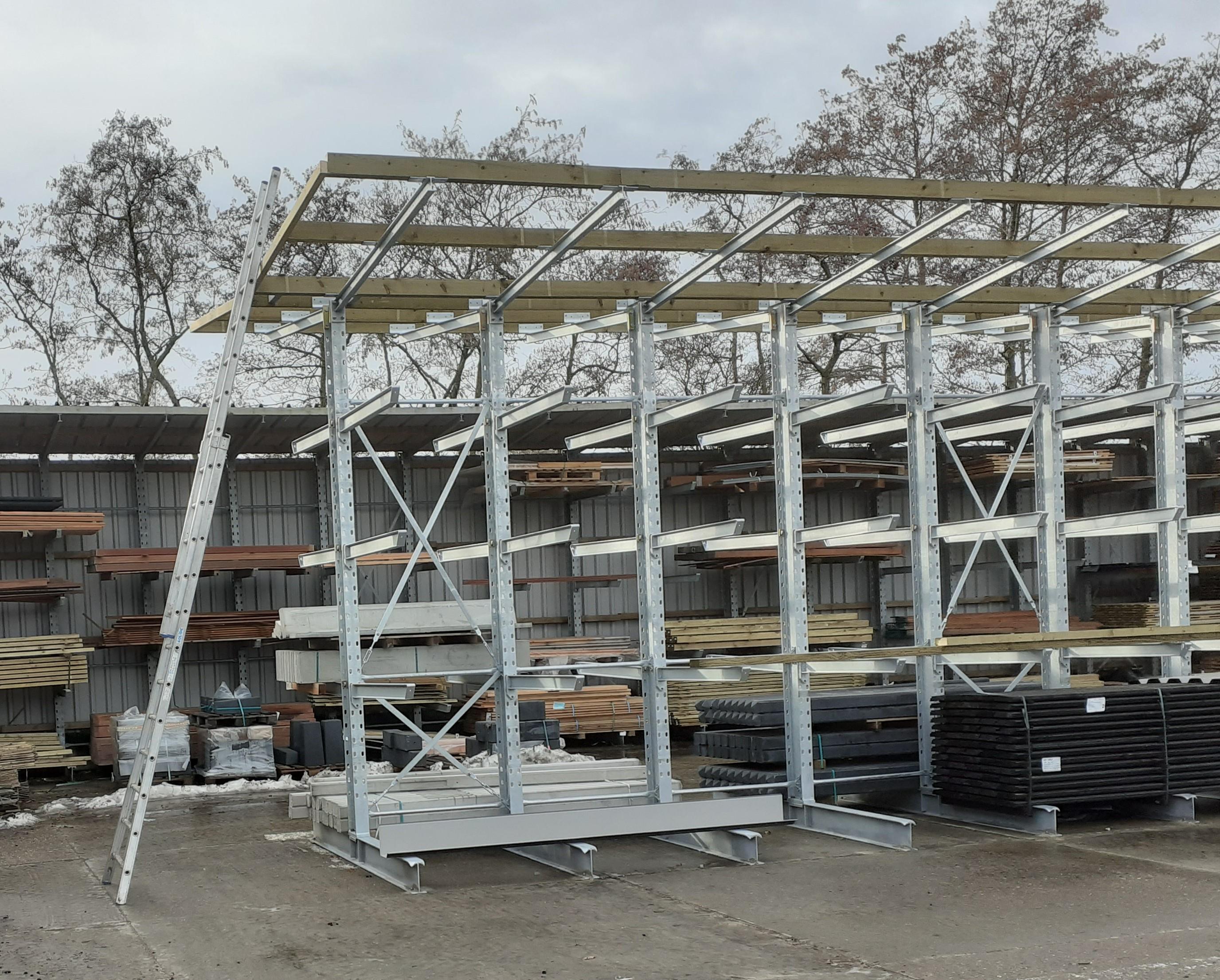 OHRA draagarmstellingen met dakarmen dakbeplating